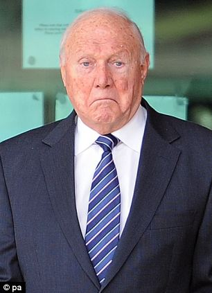 The brother of Stuart Hall, pictured outside Preston Crown Court on Thursday, was cleared of indecently assaulting a 13-year-old girl in 1991