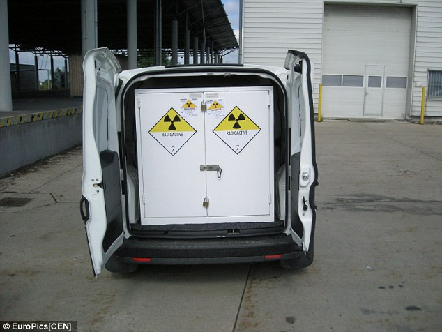The pair had stored the food and drink containers with the radioactive material as it was cooler in there