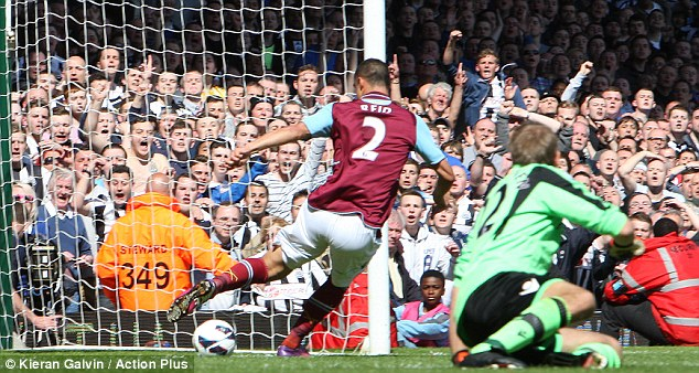 Intervention: Winston Reid clears a shot from Papiss Cisse off the line