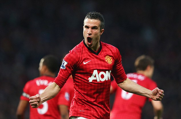 Winner: Van Persie has won the Premier League in his first season with Manchester United following a £24m move from Arsenal
