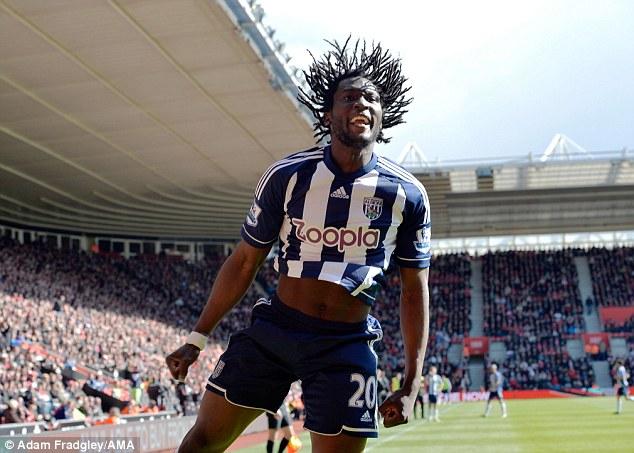 Hair-raising: Romelu Lukaku's loan spell at West Brom has been a phenomenal success