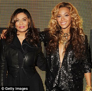 Down to earth: Beyonce's mother Tina keeps her daughter's ego in check