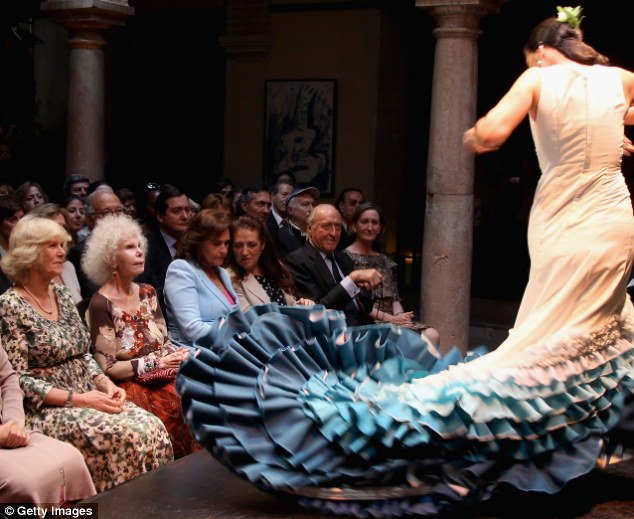 Double Duchesses: Camilla, Duchess of Cornwall joined the Duchess of Alba at a flamenco performance during the royals' three day visit to Spain in April 2011