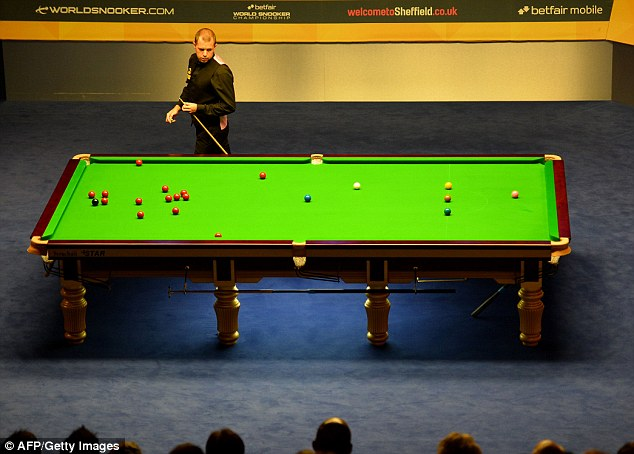Brave: Hawkins won the first two frames on Monday night to slash O'Sullivan's lead to three frames