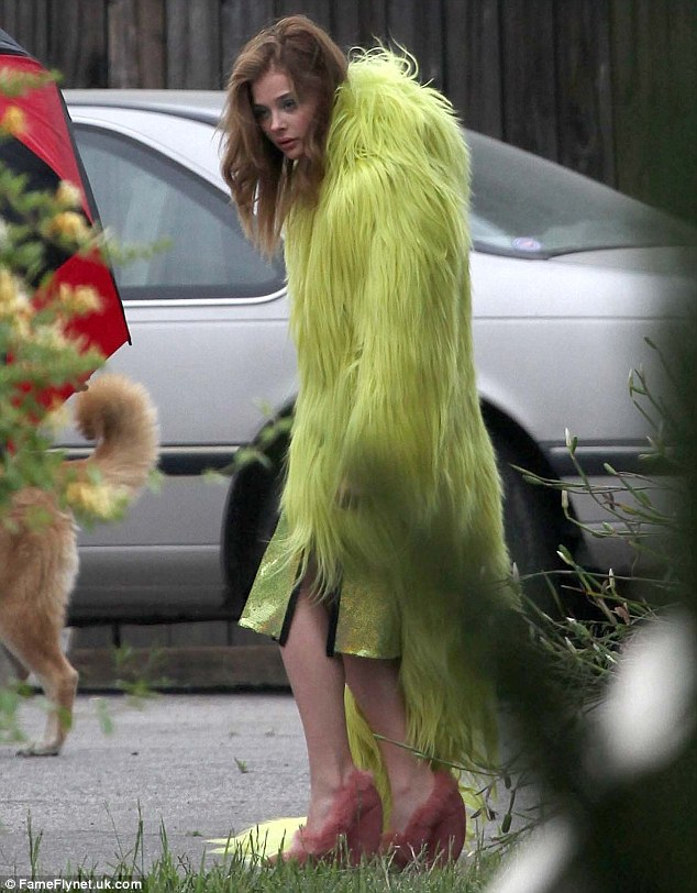 Chloe Moretz Dresses Like Character From Monsters Inc In