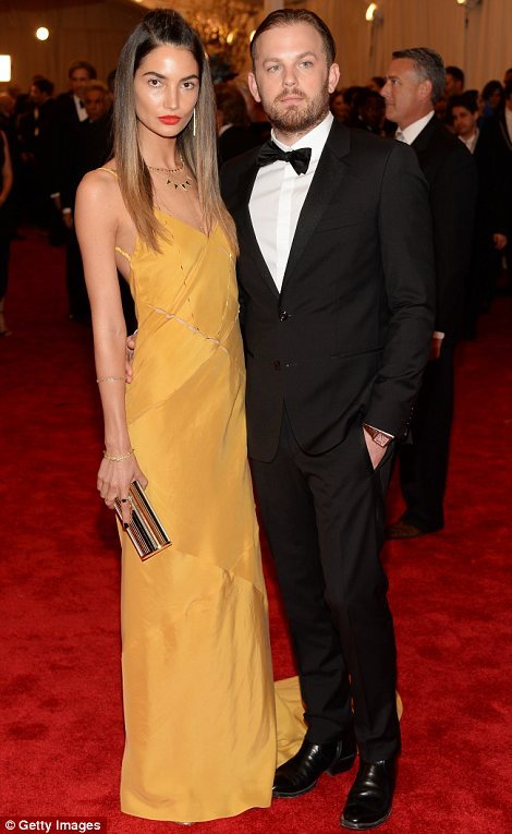 Red carpet couples: Lily Aldridge and Caleb Followill (L) and Tiger Woods and new girlfriend Lindsey Vonn looked loved up