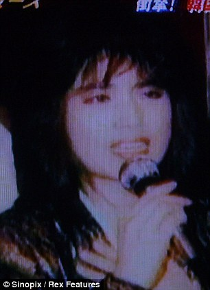 Hang moved to Japan to pursue her career, left, and continued to have silicone injections that enlarged her face, right