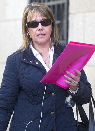 Susan Davies, 53, outside Old Bailey
