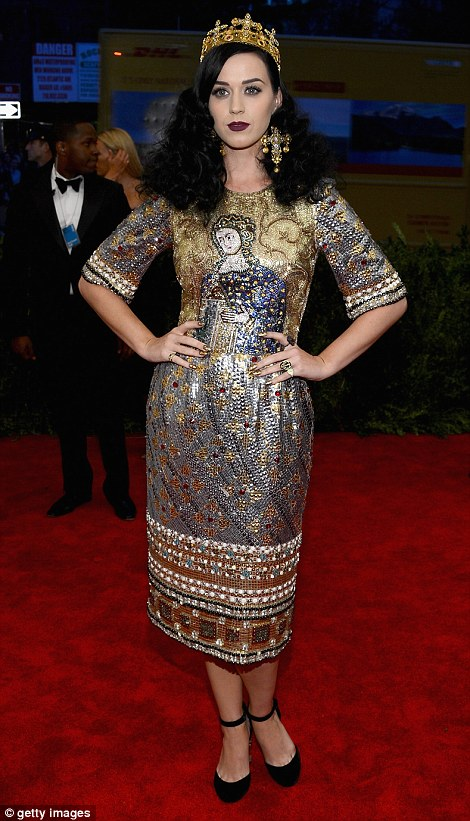 Jesus is her homeboy: Katy Perry look her religious theme a step too far by teaming her Dolce & Gabbana dress with a crown