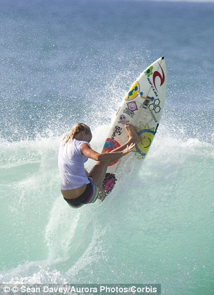 An athlete's endurance: Despite losing her arm to a shark attack in 2003 at the age of 13, Hamilton went professional in 2007 and continues to surf and compete around the world