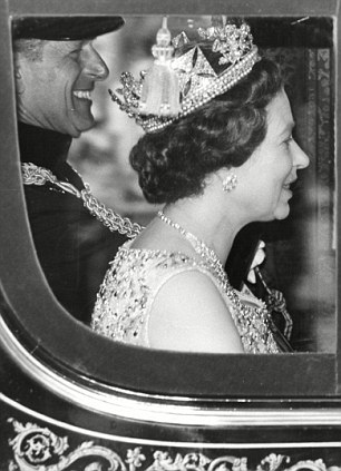 The Queen on her way to Parliament in 1979