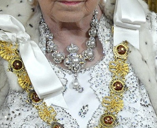 The necklace worn by the Queen was gifted to Queen Victoria to mark her Golden Jubilee