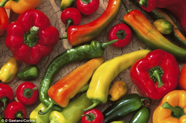 Eating peppers twice a week could help reduce the risk of developing Parkinson's disease by up to a third