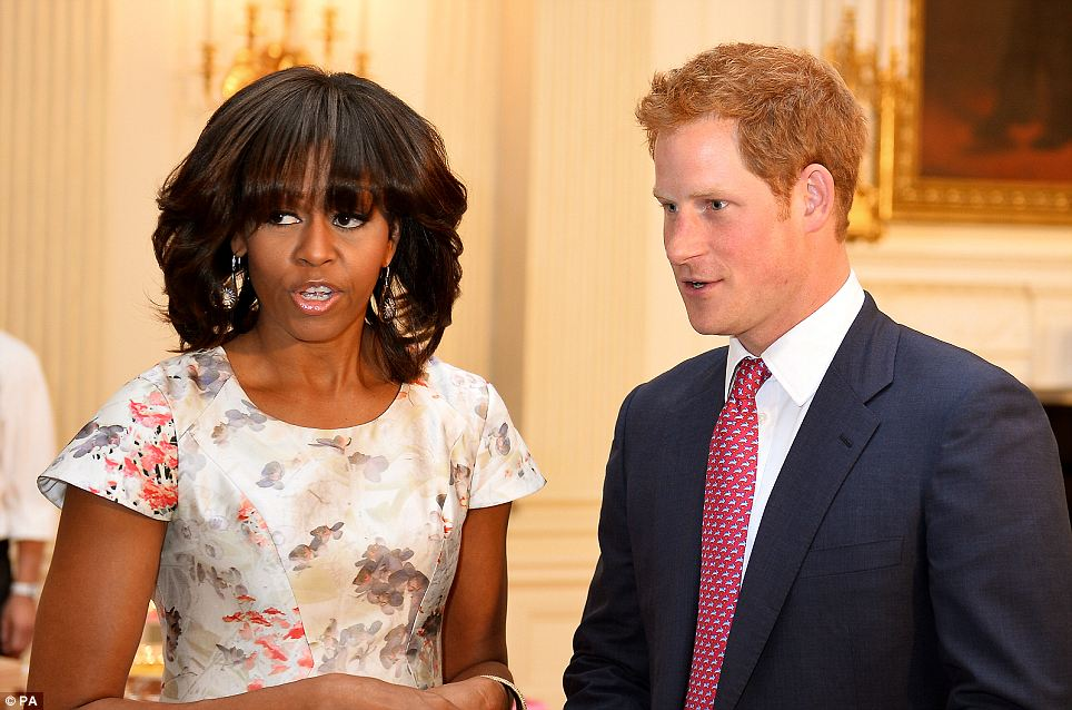 Visit to the White House: Michelle Obama welcomed Prince Harry to her home after his arrival in the U.S.