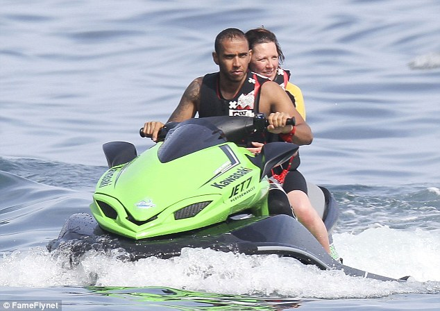 Lewis Hamilton Shows Off His Toned Torso As He Relaxes In