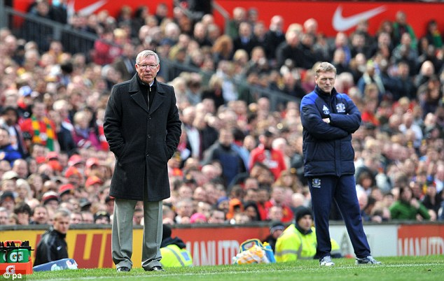 Replacement: David Moyes (right) will take over from Sir Alex Ferguson at Old Trafford this summer