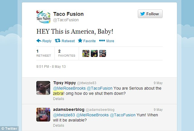 Mixed response: Online not everyone shares Taco Fusion's enthusiasm for their exotic dishes