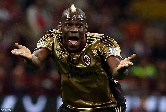 Disgrace: Roma fans aimed racist abuse at Mario Balotelli