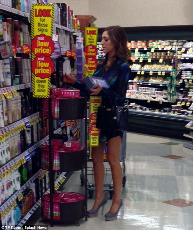 Worried: Teen Moms star Farrah Abraham was snapped buying a pregnancy test after reportedly fearing she got pregnant while filming her sex tape with porn star James Deen