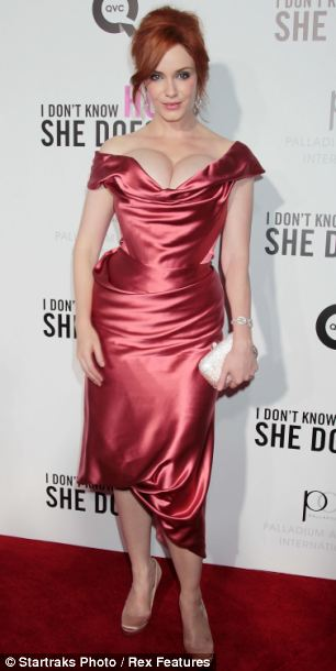 Pear shaped women such as Christina Hendricks, left, and Kate Winslet,