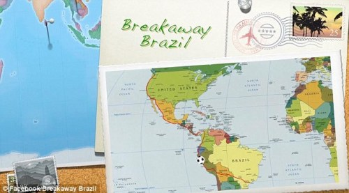 Big plans: A map shows his planned course of travel stretching 10,000 miles along the U.S.' west coast and into Central and South America