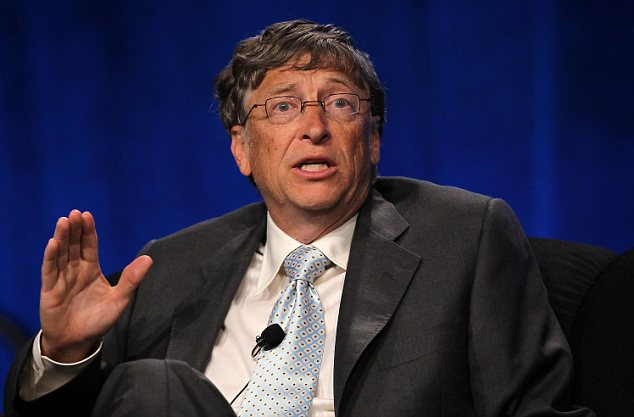Big money: Bill Gates' personal fortune has blossomed in recent years to an eye-watering $72.7billion