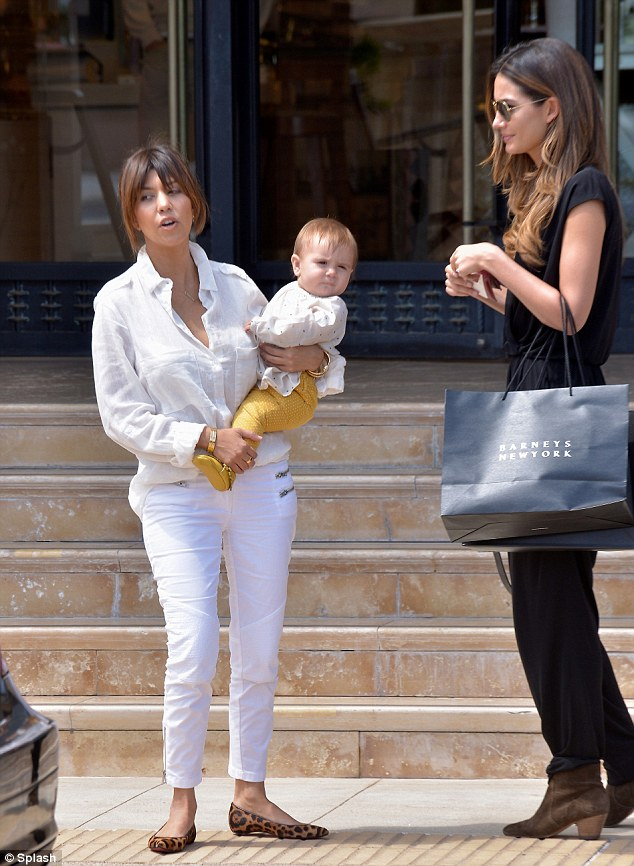 Kourtney Kardashian Takes Baby Penelope Out On A Mother