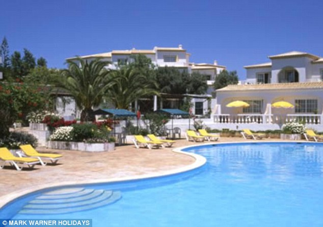The Ocean Club resort in Praia da Luz in the Algarve from where Madeleine McCann was abducted in May 2007