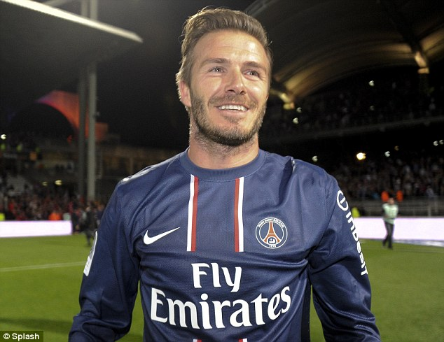 Decorated: Paris Saint-Germain's title triumph added to David Beckham's impressive medal collection