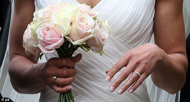 The ring! Jessica chose a simple white gold band studded with diamonds