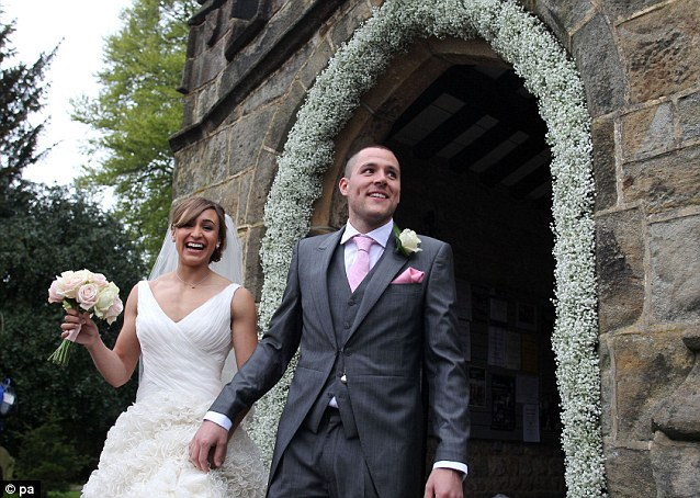 To the new Mr and Mrs Hill! Jess and her husband Andy looked overjoyed after the service