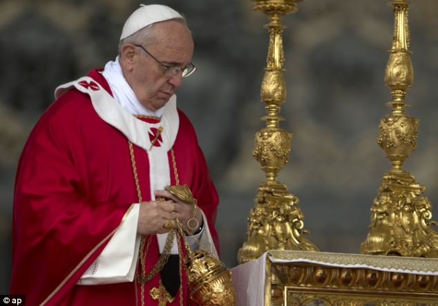 The Pontiff told a crowd of 200,000 people about his moment of shuteye, but said he thought God understands that it's hard to stay awake after a tiring day