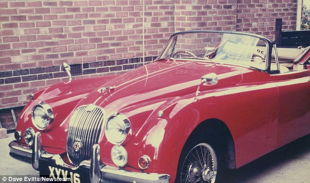 Scarlet: Mr Moore and his wife enjoyed the 'freedom' of motoring holidays on the Continent