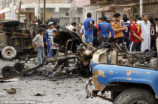 Fear: The attacks in Baghdad (pictured) and in Basra have led to fears of a return to the dark days when the country appeared on the brink of civil war