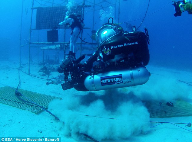 Astronaut Timothy Peake on NASA's Neemo expedition at an underwater lab located near Key Largo, Florida. There he spent 12 days in the Aquarius habitat with three crew mates
