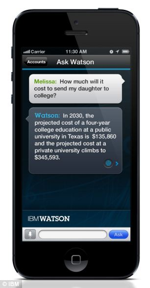 Ask Watson app; IBM's supercomputer is becoming a customer support worker