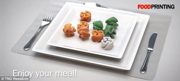 Food of the future? Experts are predicting the food in the future could be created using 3D printing technology