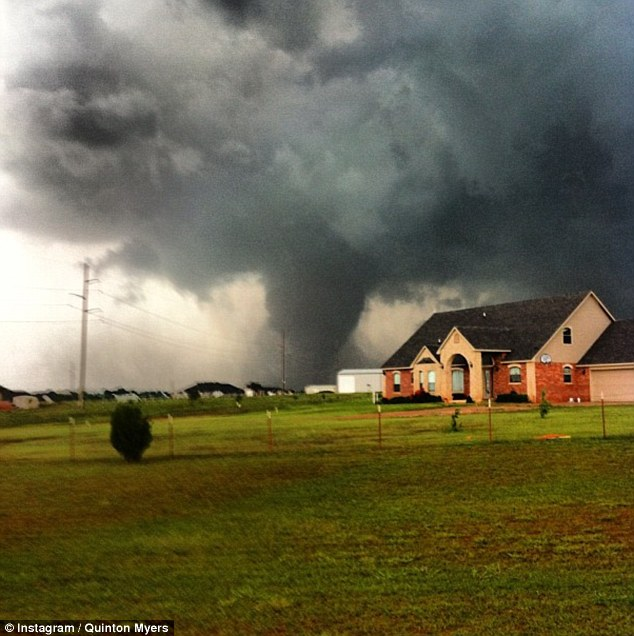 Terrifying: The storm, which barrelled through the Oklahoma City suburb for 17 miles on Monday, injured 237 people and killed at least 24, including nine children and four people in Oklahoma City