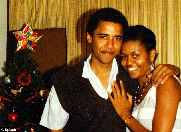 In their early years together, Michelle Robinson and Barack Obama spent a Christmas holiday together in Hawaii. They were married in October 1992