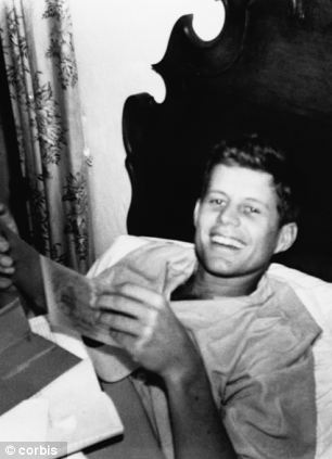 1937 --- John F. Kennedy recovers from jaundice in a London hospital in 1937. --- Image by CORBIS