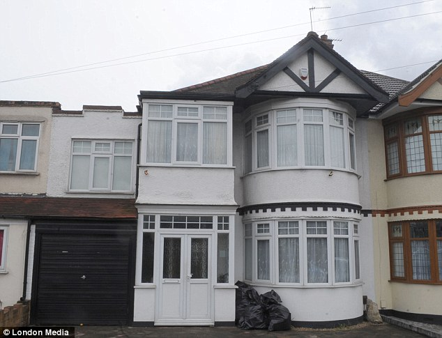 Former home: Michael Adebolajo lived in this house in Romford with his parents while he converted to Islam as a teenager