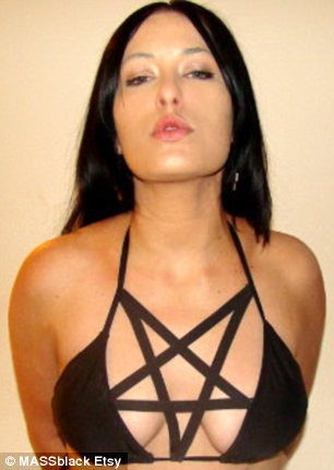 Pentagram Bikini for Goth girls who want Satanic Tan Lines