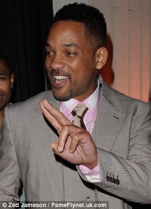 Boombox: Will Smith as he was in the show (left in 1990) and as a slightly better dressed father-of-three this week