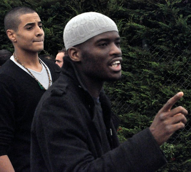 Suspect: The friend of Michael Adebolajo, right, said he thought he had undergone a 'change' following his detention by security forces on a trip to Kenya last year.