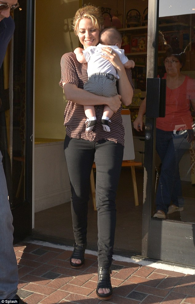 Anything for her little man: Shakira treated her 4-month-old son Milan to a shopping trip in West Hollywood on Saturday