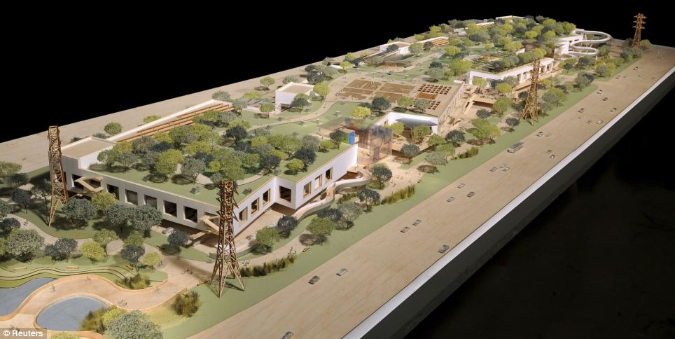 Facebook's West Campus to be built in Menlo Park by 2016 and designed by Frank Gehry . It will feature the world's biggest open plan office, with 3,400 Engineers sitting together - and is designed to replicate a college campus.