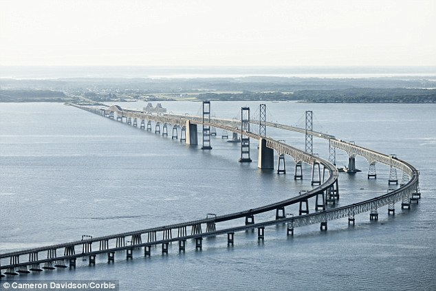 Scariest structure: The William Preston Lane Jr. Memorial Bridge, known as Bay Bridge, pictures, spans nearly five miles of the Chesapeake Bay to connect Maryland's eastern and western shores