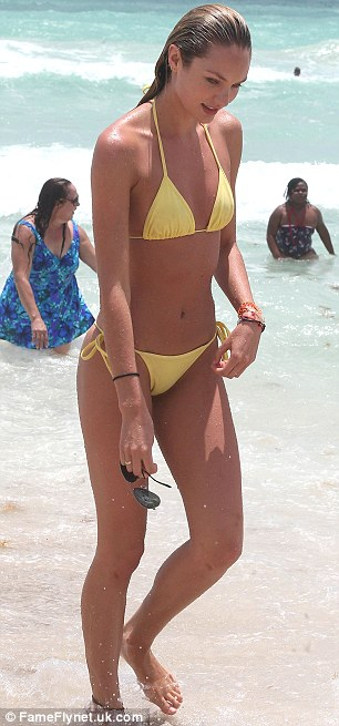Candice Swanepoel goes offduty on Miami holiday with