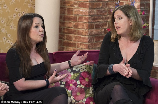 Kelly Rose Bradford, left, believes the female version of Viagra could help save marriages, but Shona Sibary, right, says such a pill is her worst nightmare