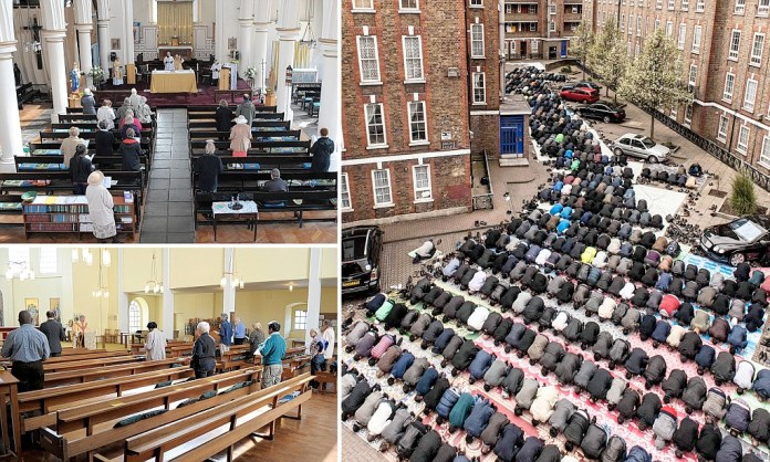 Image result for churches in uk are empty while mosques are packed